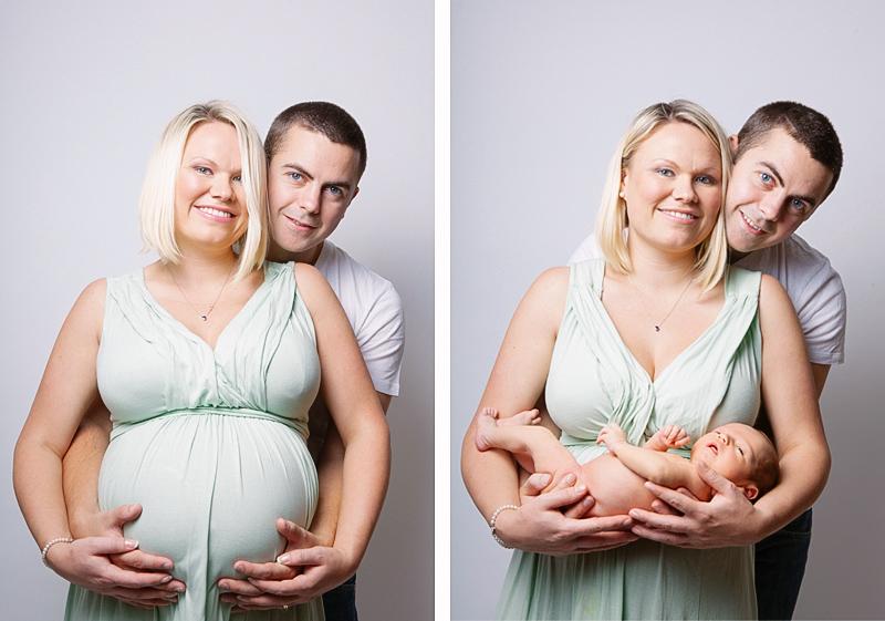 fotografía de maternidad y recién nacido